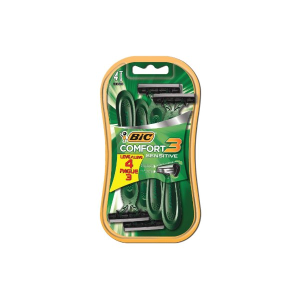 Aparelho de Barbear Bic Comfort3 Advance Sensitive 929850 Leve 4 Pague 3