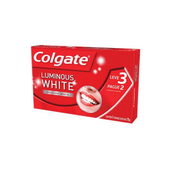 Creme Dental Colgate Luminous White Leve 3 Pague 2 70g
