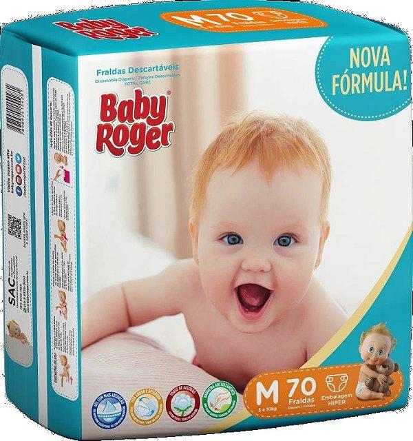 Fralda Descartável Baby Roger Hiper M C/70
