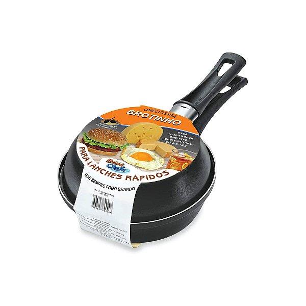 Omeleteira Brotinho Dona Chefa Antiaderente Preta 0020