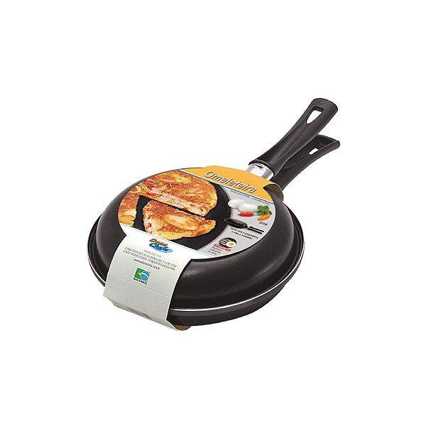 Omeleteira Dona Chefa 18cm Antiaderente Preta 0022