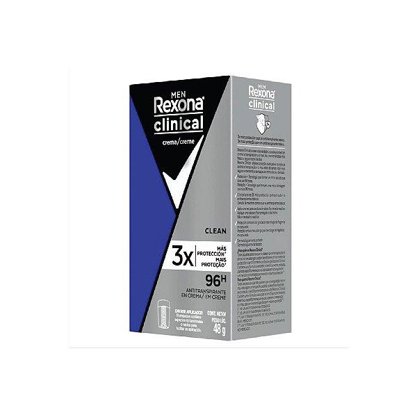 Desodorante em Creme Rexona Antitranspirante Men Clinical 48g