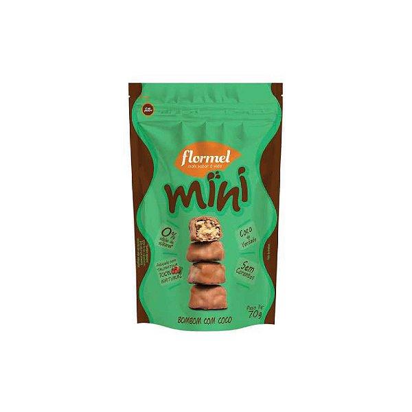 Mini Bombom Flormel Com Côco Zero Açúcar 60g