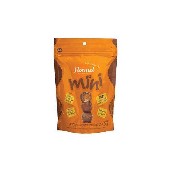 Mini Bombom Flormel Crocante Com Caramelo Zero Açúcar 60g