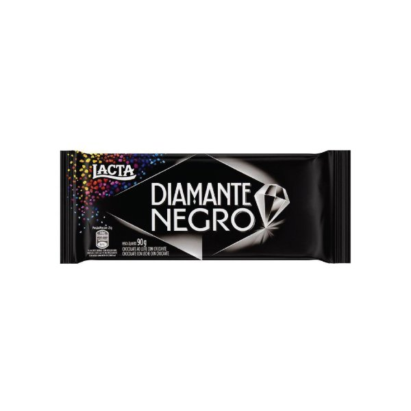 Barra Chocolate Lacta Diamante Negro 90g