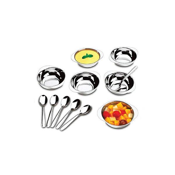 Conjunto Brinox Para Sobremesa com 12 Peças 1636/1112