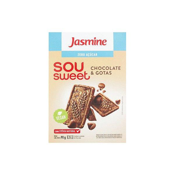 Biscoito Jasmine Sou Sweet Chocolate e Gotas Zero Açúcar 90g