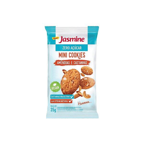 Mini Cookies Jasmine Amêndoas e Castanhas Zero Açúcar 35g