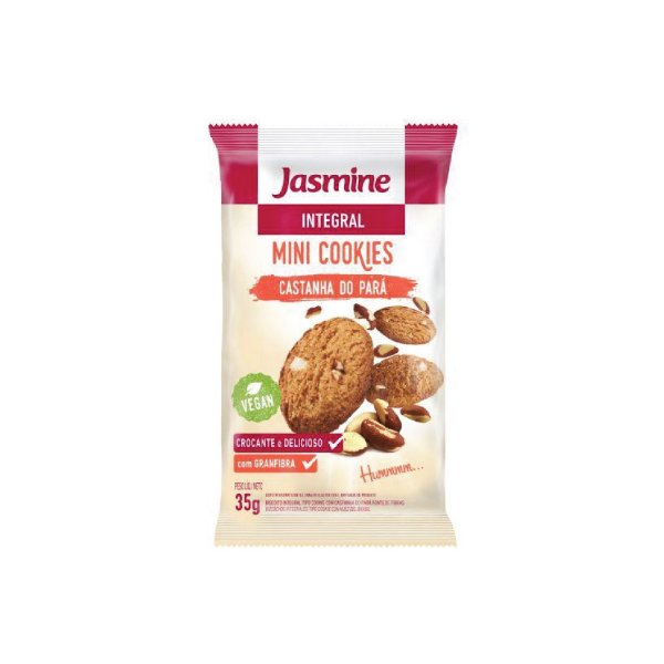 Mini Cookies Jasmine Castanhas do Pará Zero Açúcar 35g