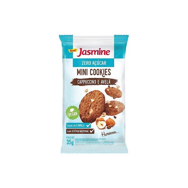 Mini Cookies Jasmine Cappuccino e Avelã Zero Açúcar 35g