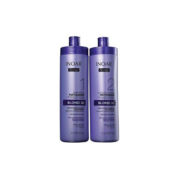 Kit Shampoo e Condicionador Inoar Oxyfree Blond 3D 1L
