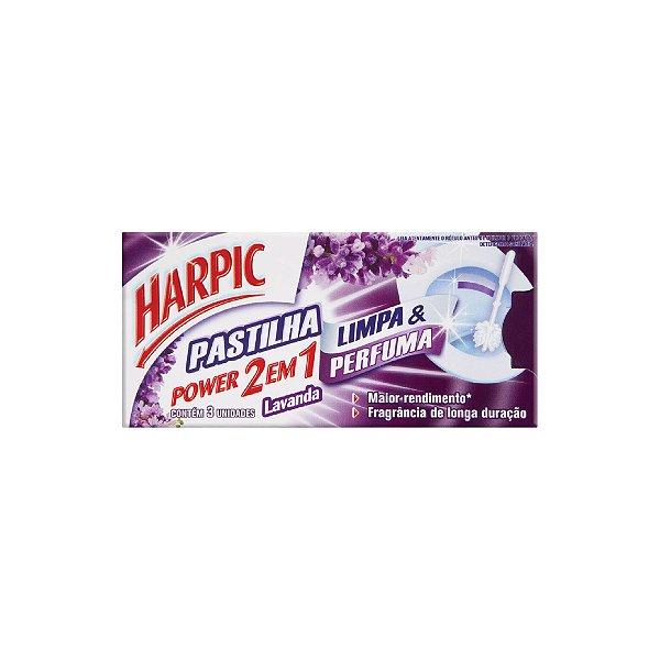 Pastilha Adesiva Harpic 2 Em 1 Lavanda 9g