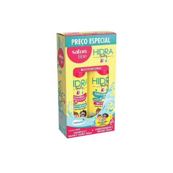 Kit Shampoo e Condicionador Salon Line Hidra Multy Kids 300ml