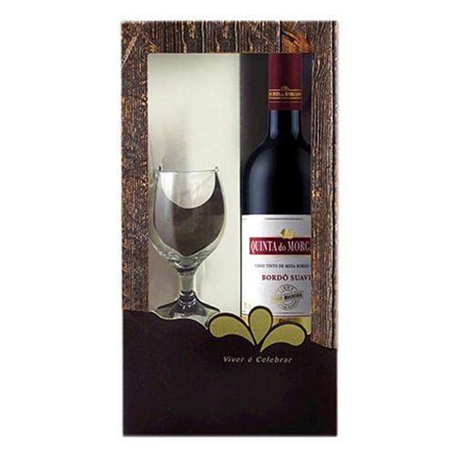 Vinho Quinta do Morgado Bordo Suave 750ml com Taça