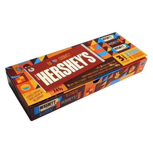 Caixa Presente Cookies Hershey's com 3 Barras (2 Creme + 1 Chocolate) 261g