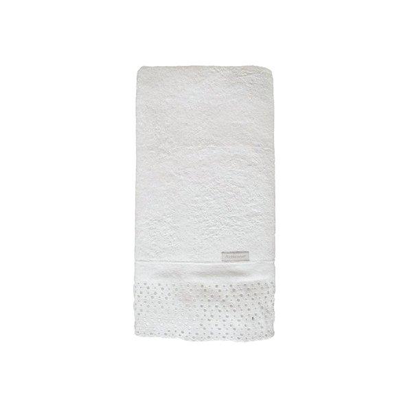 Toalha de Banho Buddemeyer 70x140cm Princess C/ Aplicação Branca