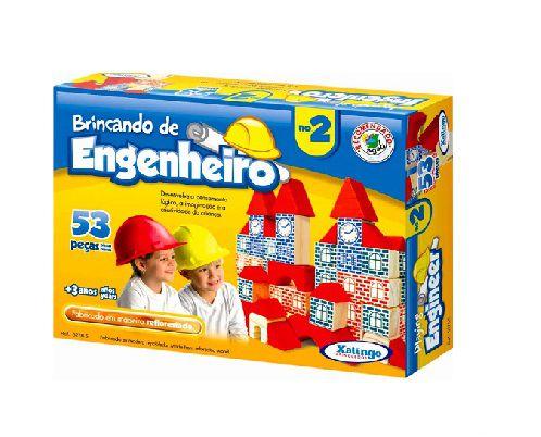 Brincando de Engenheiro 2 Xalingo C/53 Peças +3 Anos