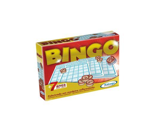 Jogo Bingo Xalingo C/75 Pedras de Madeira +7 Anos