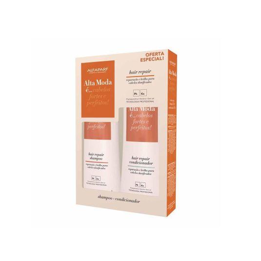 Kit Shampoo e Condicionador Alta Moda Hair Repair 300ml