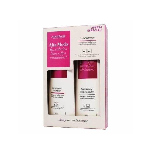 Kit Shampoo e Condicionador Alta Moda Liss Extreme 300ml