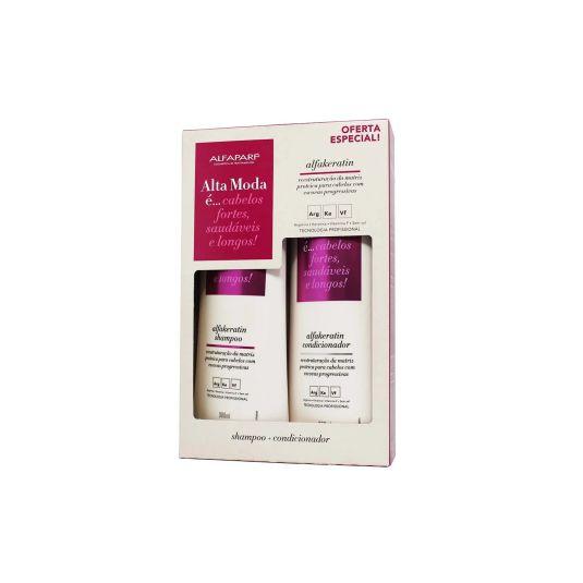 Kit Shampoo e Condicionador Alta Moda Alfakeratin 300ml