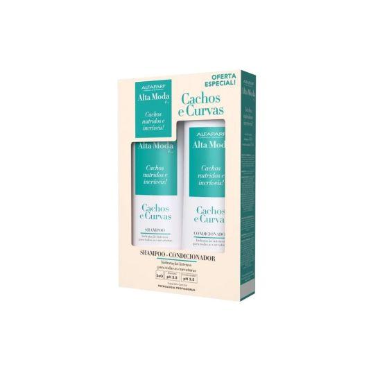 Kit Shampoo e Condicionador Alta Moda Cachos e Curvas 300ml