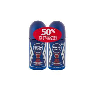 Kit Desodorante Roll-on Nivea Men Dry Impact C/2 Unidades 50ml