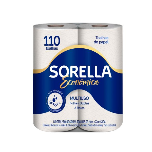 Papel Toalha Sorella Econômica C/2