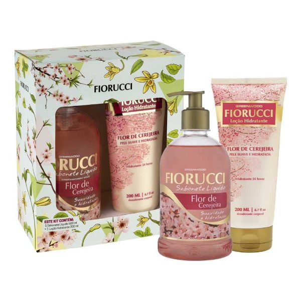 Kit Fiorucci Sabonete Liquido 500ml + Loção Cereja 200ml