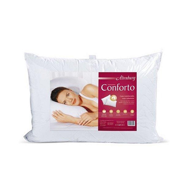 Travesseiro Altenburg 50x90cm Conforto C/ Capa Metalessada