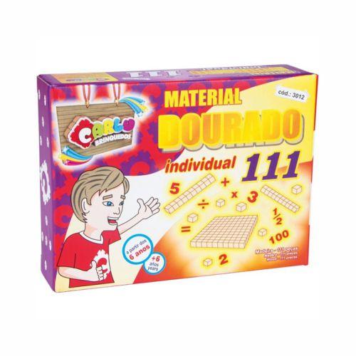Jogo Material Dourado 111 Peças Carlu 3012
