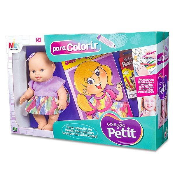 Boneca Petit para Colorir Milk