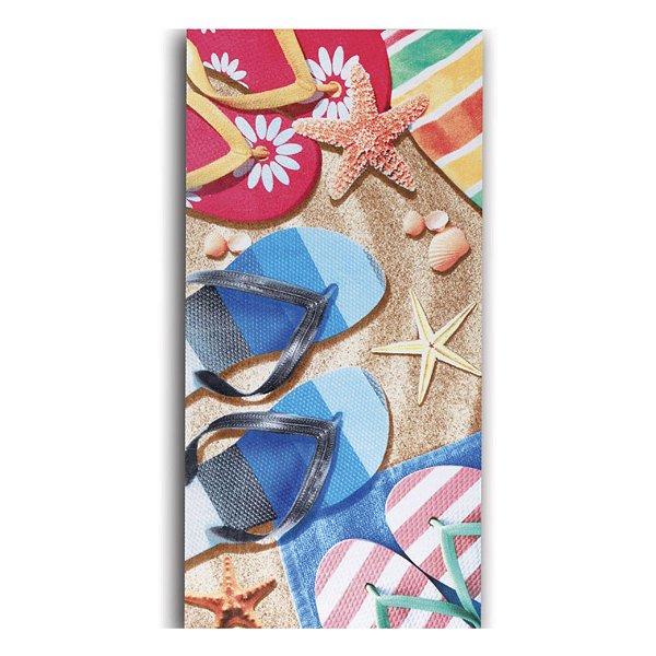 Toalha de Praia Dohler 76x152cm Sandals Aveludada