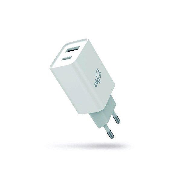 Carregador de Parede USB+USB Tipo-C ELG W124C