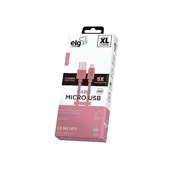 Cabo Micro USB Rosa ELG 1,5m M515PKMAX