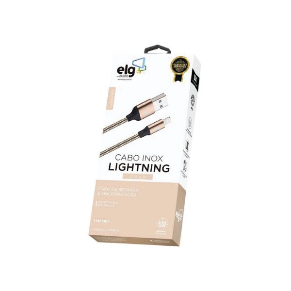 Cabo Lightning Gold Inox 1m ELG INX810GD