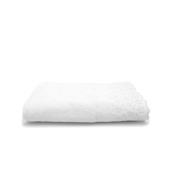 Toalha de Banho Buddemeyer 70x140cm Crystal C/ Aplicação Branco