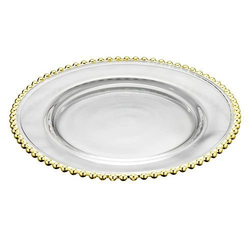 Sousplat Cristal Pearl Gold 31,5cm - Rojemac