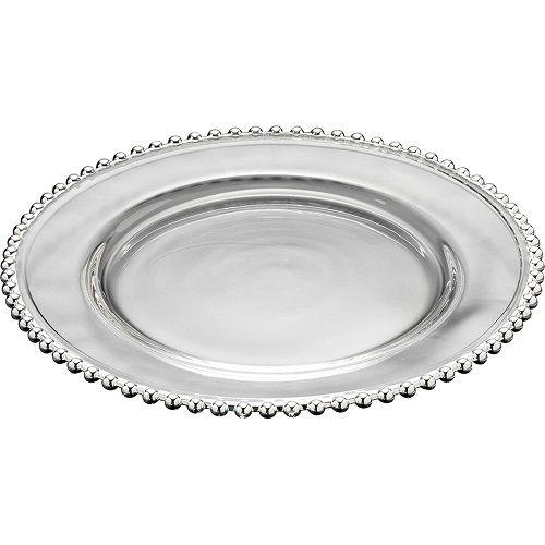 Sousplat Cristal Pearl Silver 31,5cm - Rojemac
