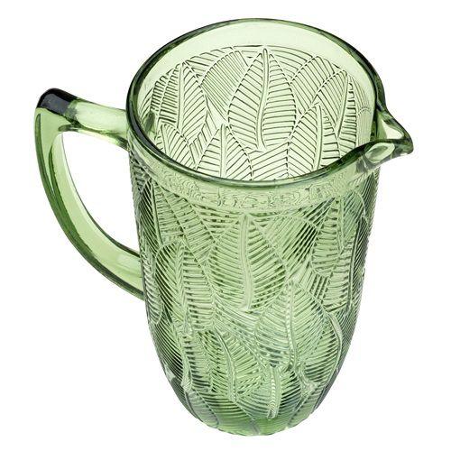 Jarra Rojemac Leaves Bon Gurmet Vidro Verde 1,3L