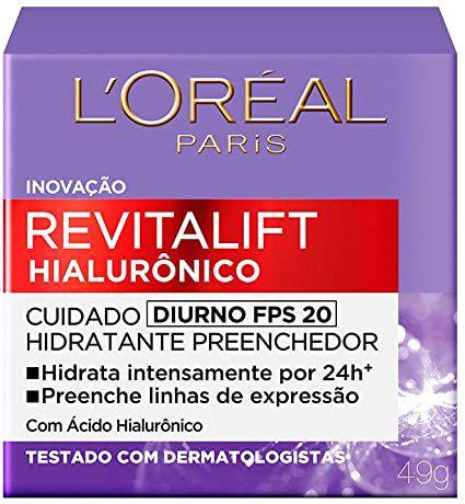 Creme Antirrugas Loreal Revitalift Hialurônico Diurno FPS20 49g