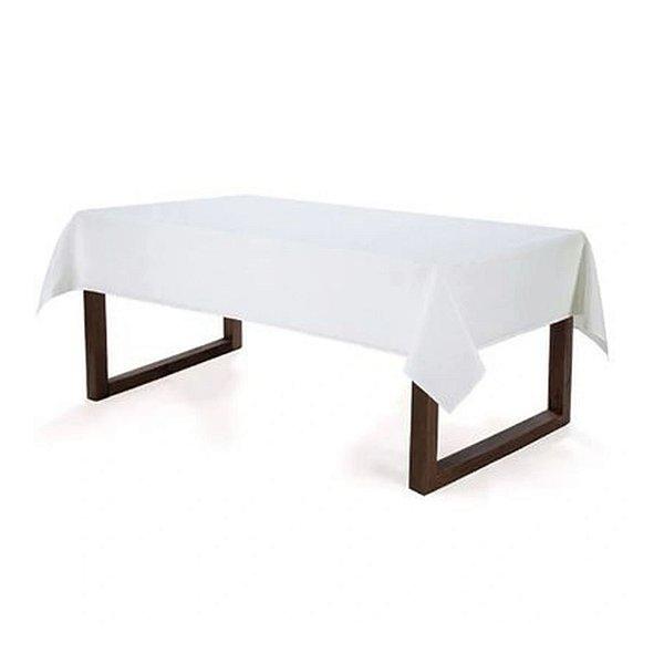 Toalha de Mesa Retangular Mendi Karsten 160x220cm Limpa Fácil Branco