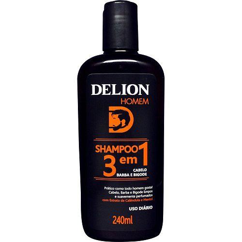Shampoo Delion Homem 3 em 1 240ml