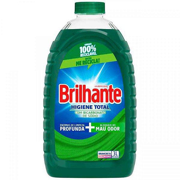Lava Roupas Brilhante Higiene Total 3L