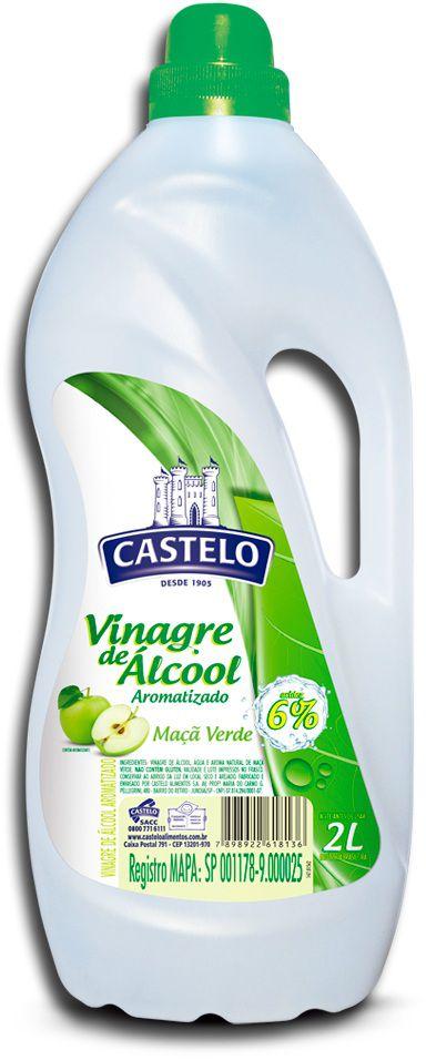 Vinagre de Álcool Castelo Maçã Verde 2L
