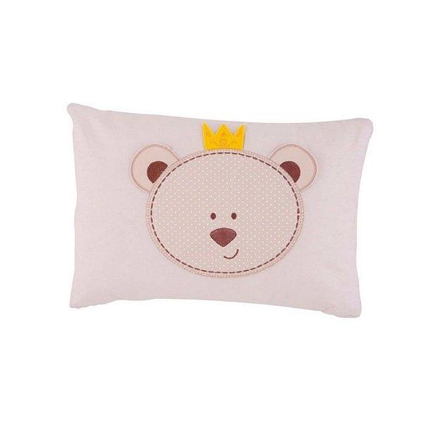 Travesseiro Papi 28x38cm Urso Bege