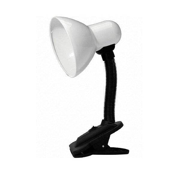 Luminária de Mesa Taschibra TLM 05 E27 Articulável C/ Garra Branca