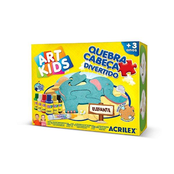Quebra-Cabeça Divertido Elefante Art Kids Acrilex