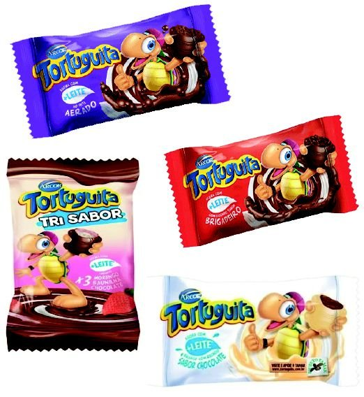 Chocolate Arcor Tortuguita Recheado 18g
