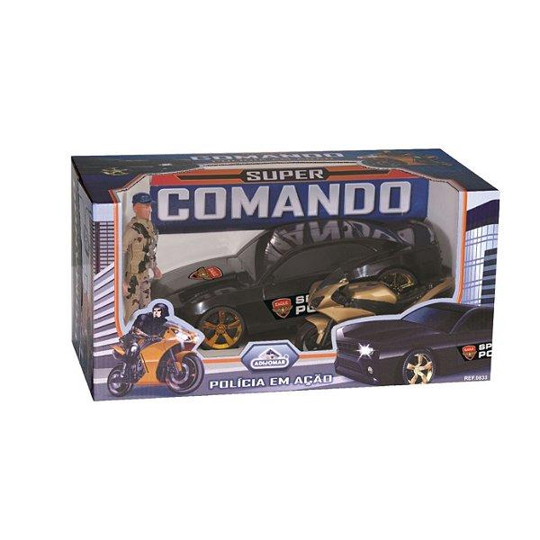 Carro Super Comando Polícia em Ação 3+ Anos